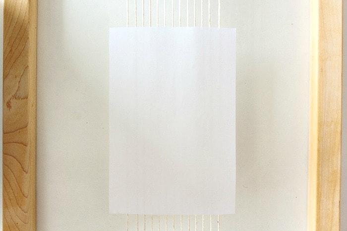 DIY mini framed weaving - craft paper guide.