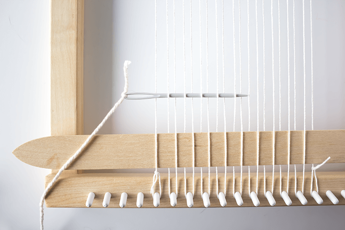Plain (or 'tabby') weave technique - 3 mini weavings.