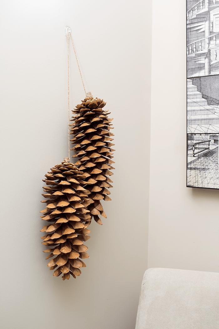 Cozy Winter Decorating Ideas - add pinecones