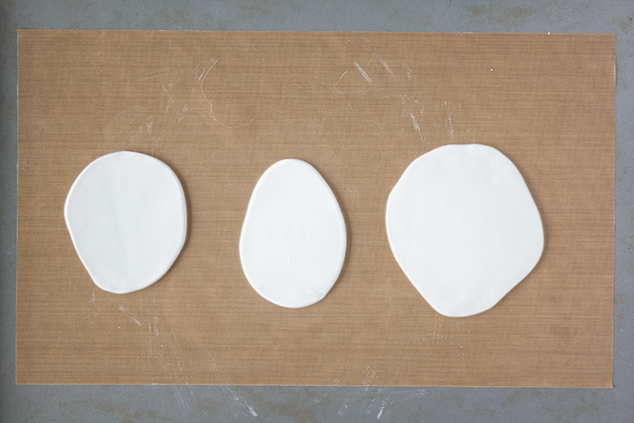 Painted Decorative Clay Wall Hooks - roll out clay.