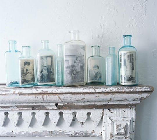 Display in Vintage Jars // via Apartment Therapy