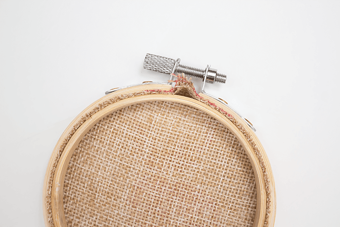 2016 Ornament Exchange - Statement Embroidery Hoop Ornament - bubble