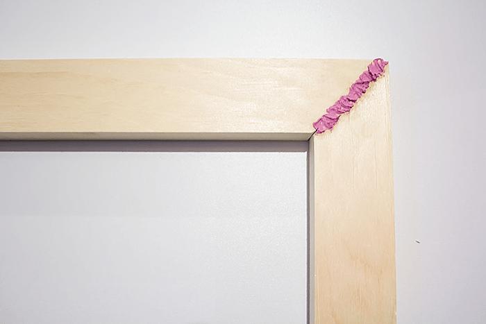 How To Frame Canvas Art - wood filler for cracks.
