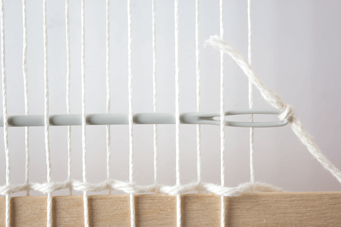 Plain ('tabby') weave technique - 3 mini weavings.