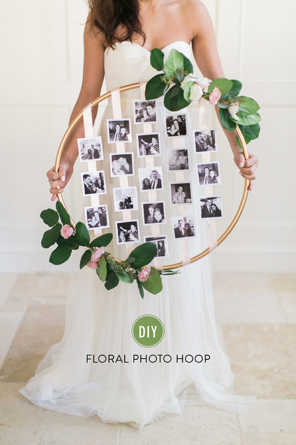 Photo Floral Hoop // Style Me Pretty