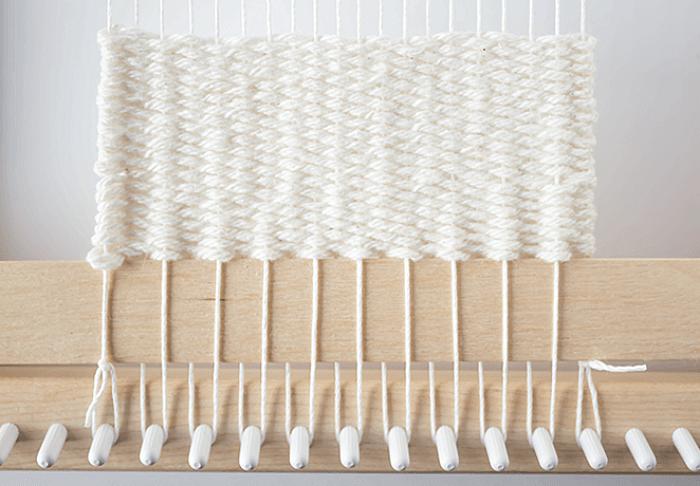 Plain Weave In Progress - 3 Mini Weavings.