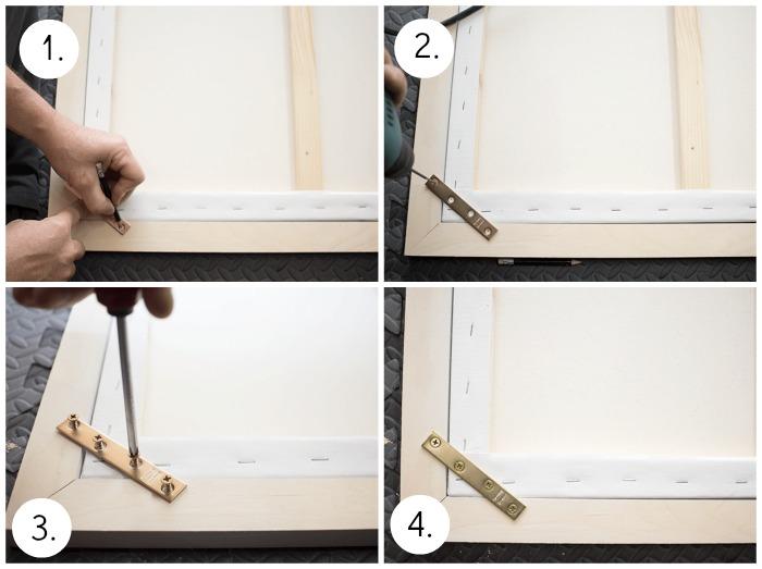 How To Frame a Canvas - Attach brace.