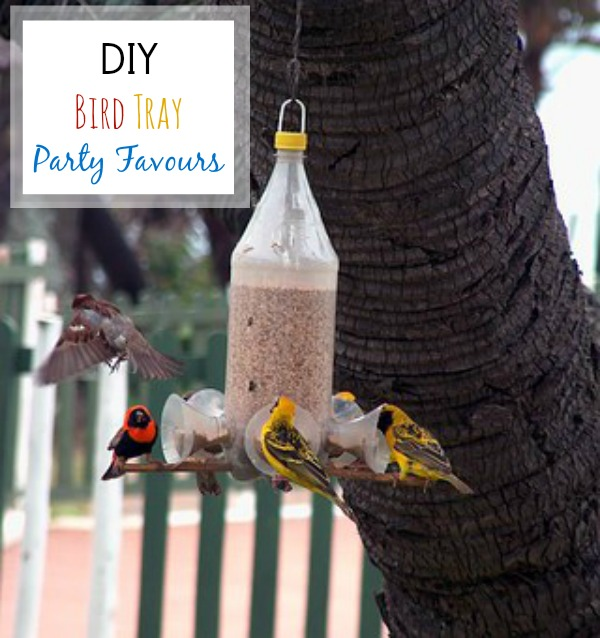 Replace the usual trinkets with DIY bird tray / feeders as party favours. A simple, practical and unique parting gift idea (#spon).