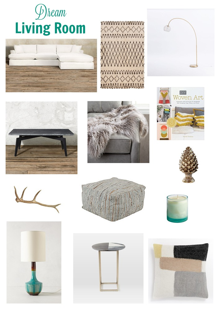 Check out this 'Dream Living Room' with products from Arhaus, West Elm, and more!
