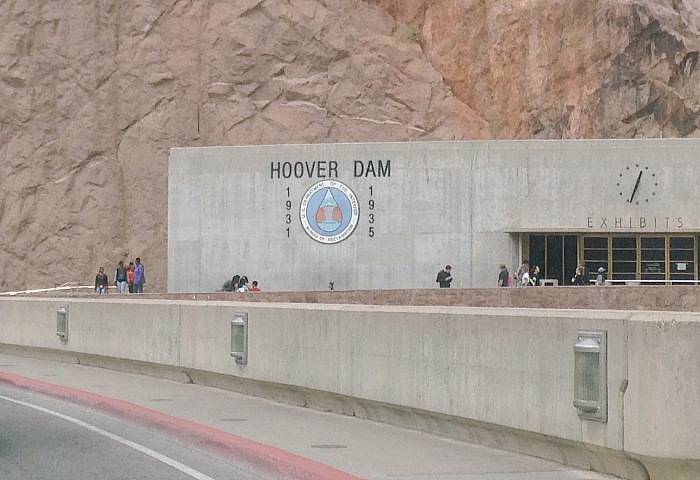 Driving over Hoover Dam