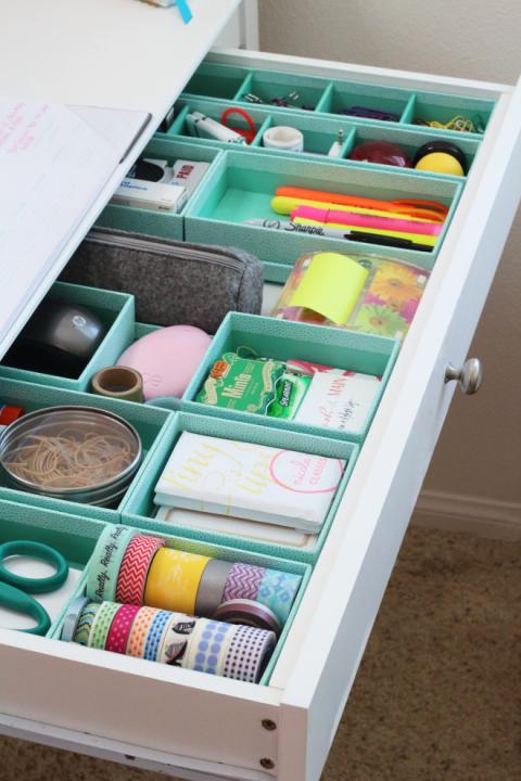 Junk Drawer Organization - Good Housekeeping - via aprettyfix.com