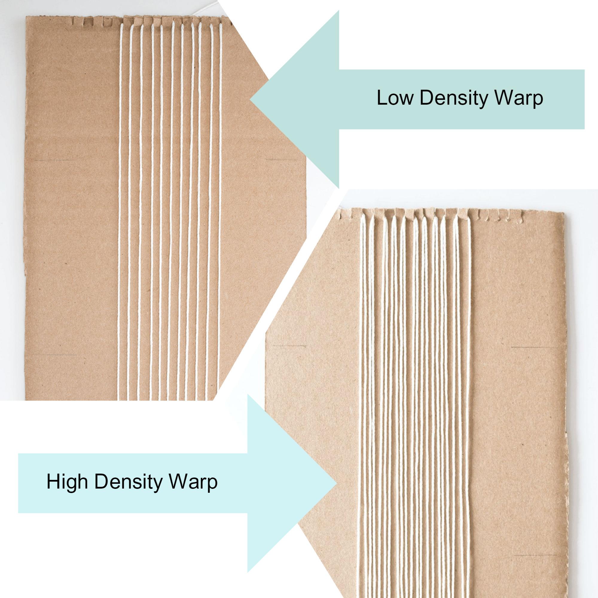 Low Vs High Density Warp Comparison