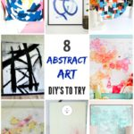 These 8 abstract art DIY's are a fun way to introduce pops of colour into your home. Great for individuals of all skill levels.