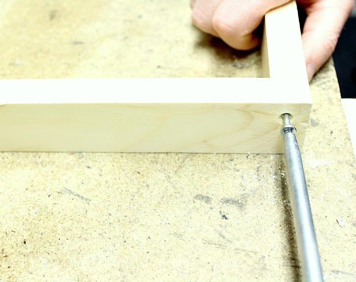 Make a loom - screwdriver.