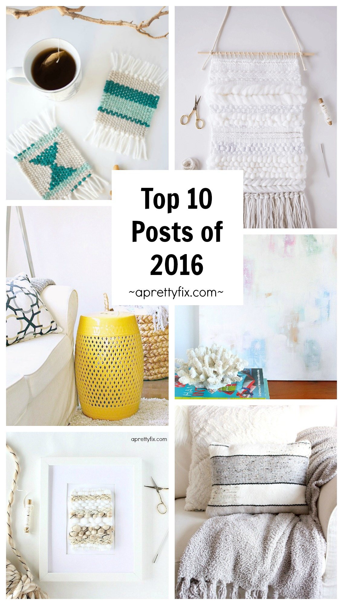 Check out the most popular crafts and DIYs of 2016 from the home and craft blog, A Pretty Fix.