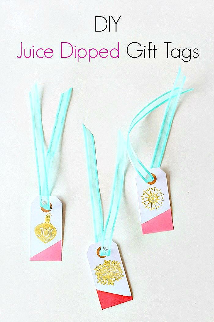 DIY Juice Dipped Gift Tags.