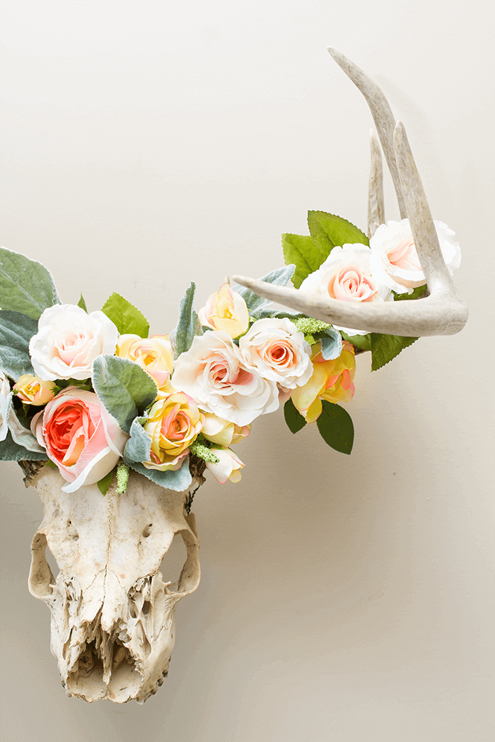 5 Simple & Creative Ways To Integrate Flowers In Your Home - DIY Floral Wreath Crown