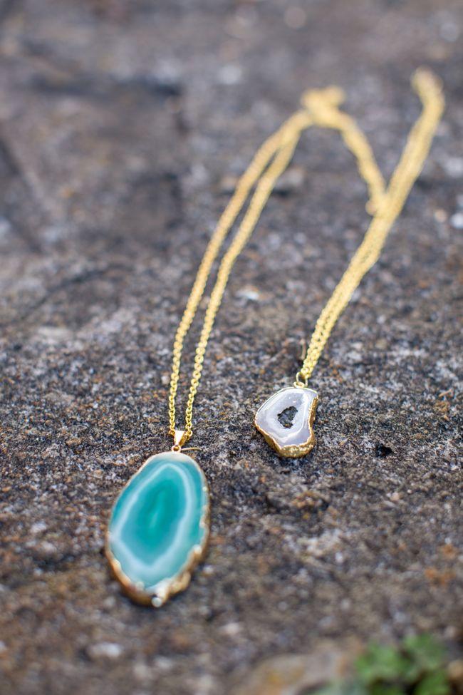 diy agate necklace