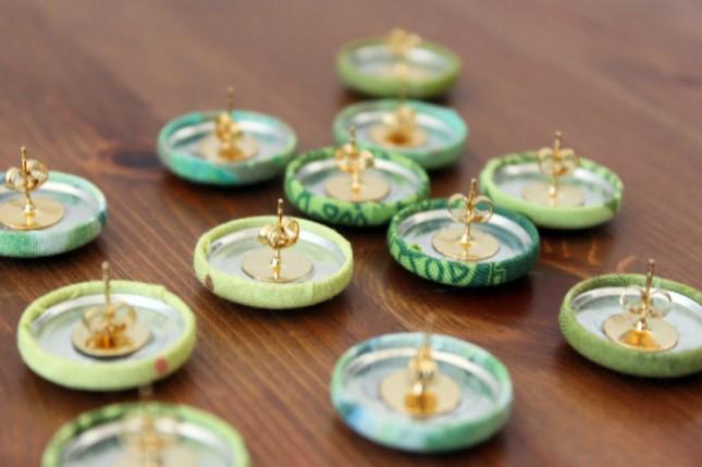 button earrings back