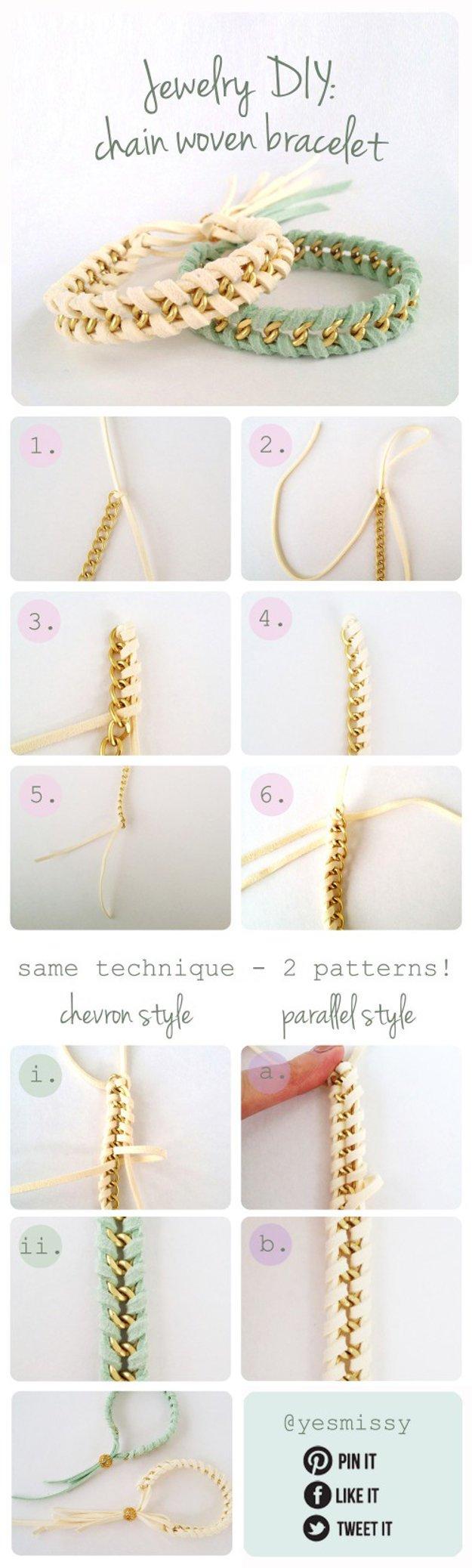 chain woven bracelet