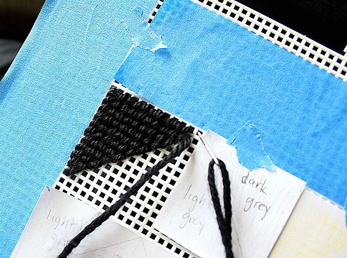 DIY Geometric Embroidery Art