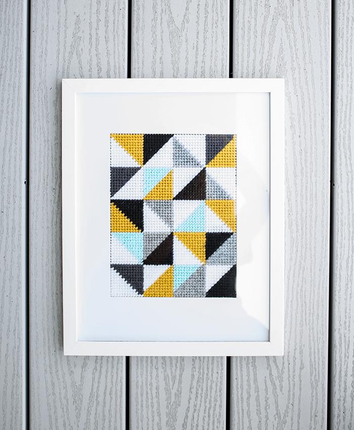 Framed embroidery // 8 Wall Decor Ideas.