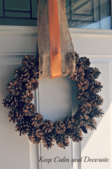 full pinecone wreath