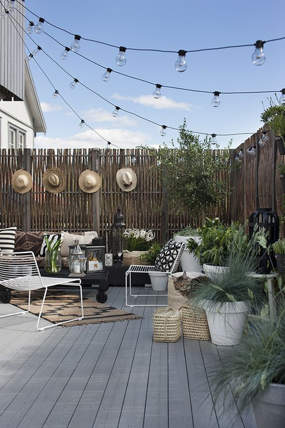 Black and White Outdoor Spaces