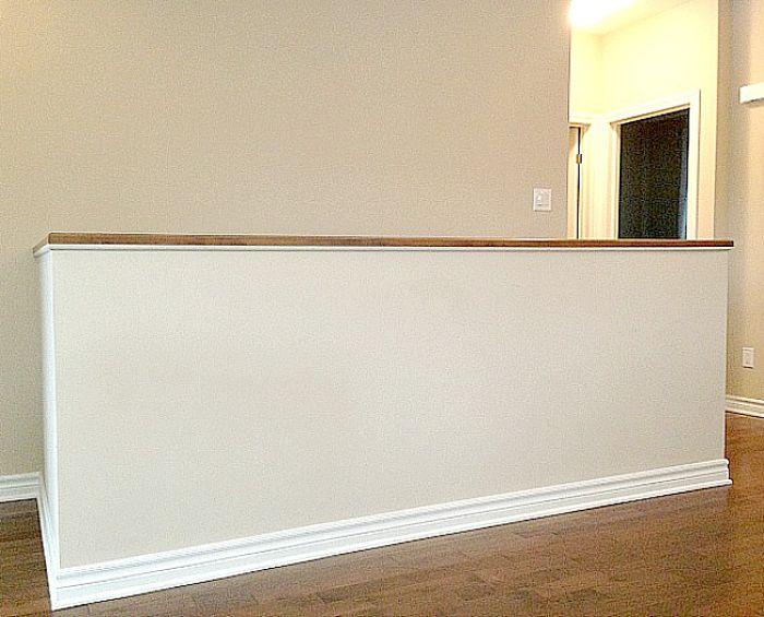 empty half wall