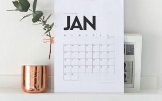 6 FREE 2017 Monthly Calendars + Christmas Break