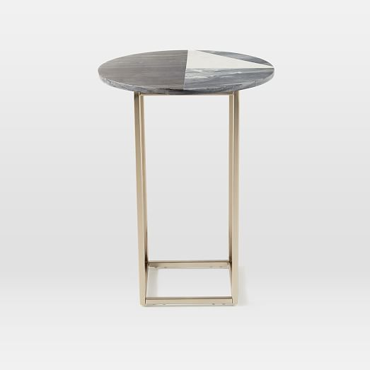Dream Living Room - Marquetry Marble Side Table // www.westelm.com