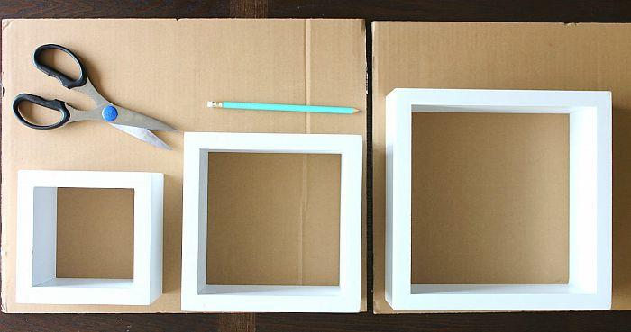 trace cardboard inserts