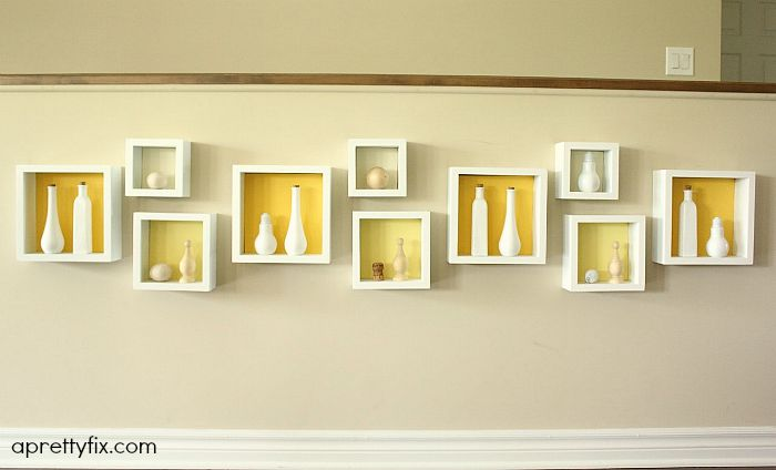This beautiful, easy DIY cubby wall art display is a great solution to fill an empty half wall or any wall for that matter. A beautiful way to display treasured objects in your home.