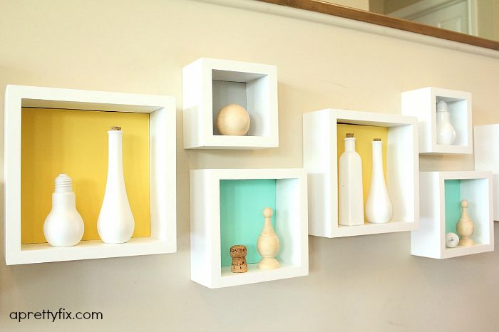 DIY Cubby Wall Display – A Pretty Fix