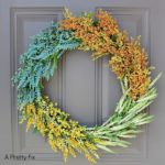 DIY (faux) wildflower wreath