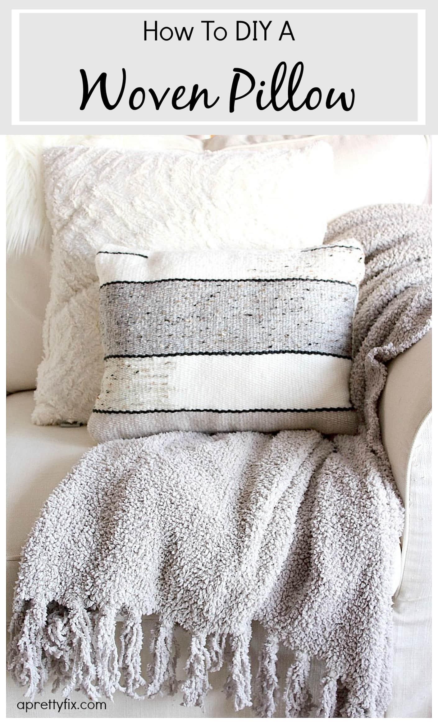 how to diy a woven pillow – a pretty fix Diy Pillow