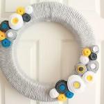 DIY Yarn and Felt Wreath